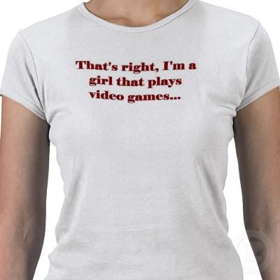 Gameuse T-shirt jeux vidéo